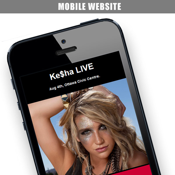 Kesha – Mobile Website