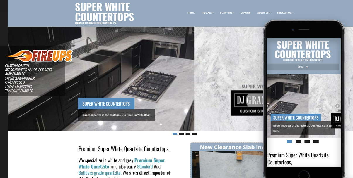 Super White Countertops -Website