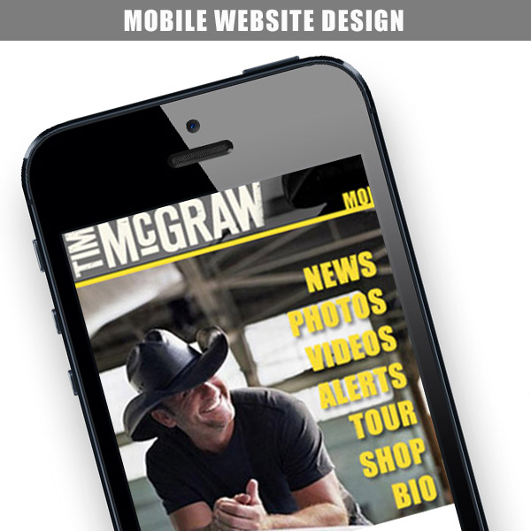 Tim Mcgraw – Mobile Website Design
